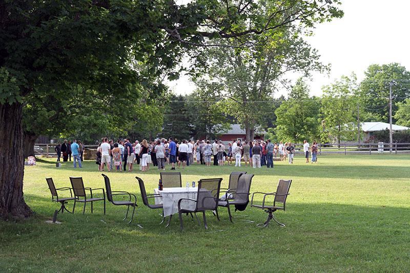 Horse Farm Wedding Outdoors