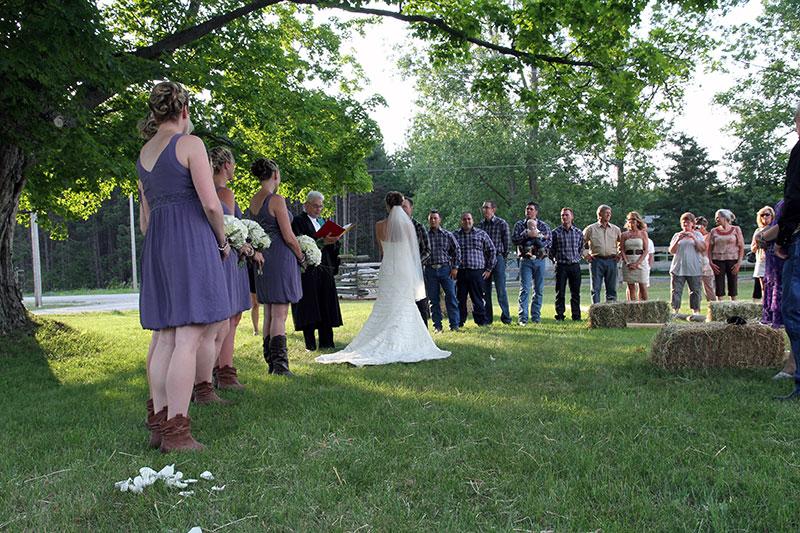Farm Wedding Outdoors