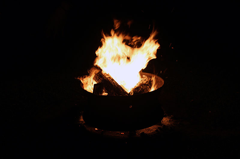 A bonfire to close out a wonderful day