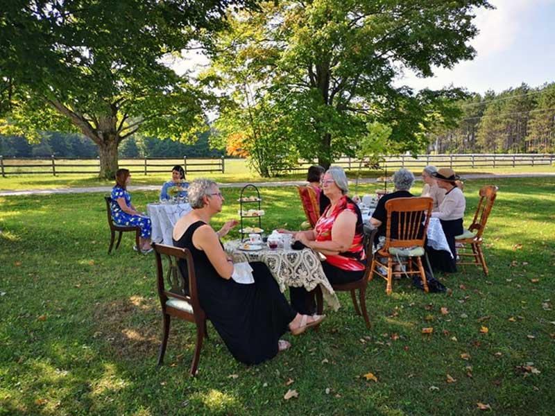 Outdoor High Teas are held when weather permits